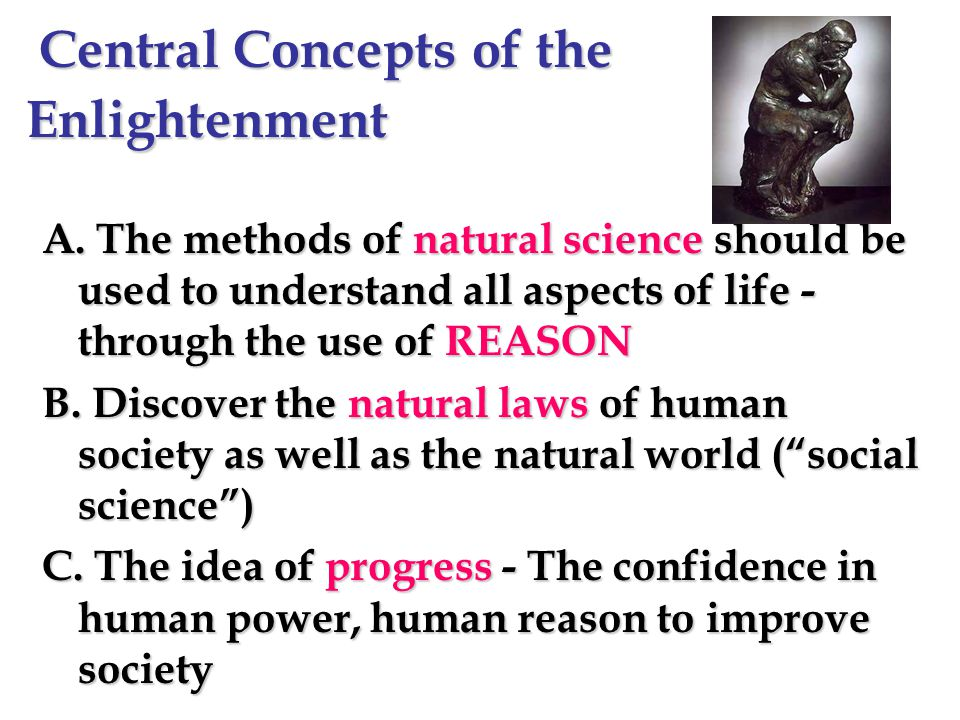 Central Concepts of the Enlightenment