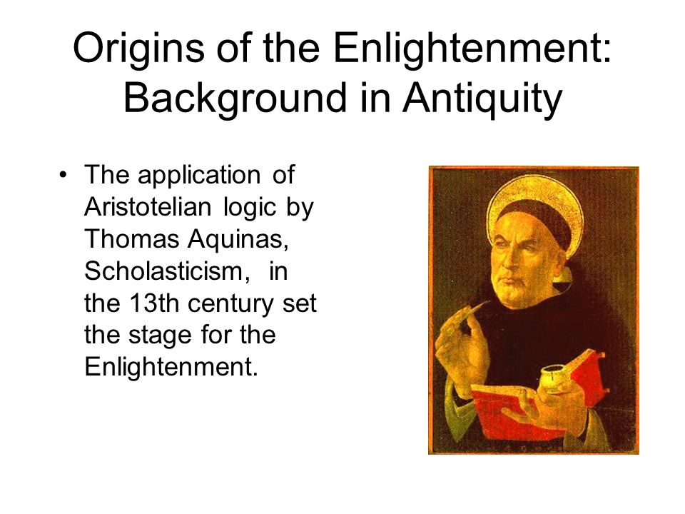 Origins of the Enlightenment: Background in Antiquity