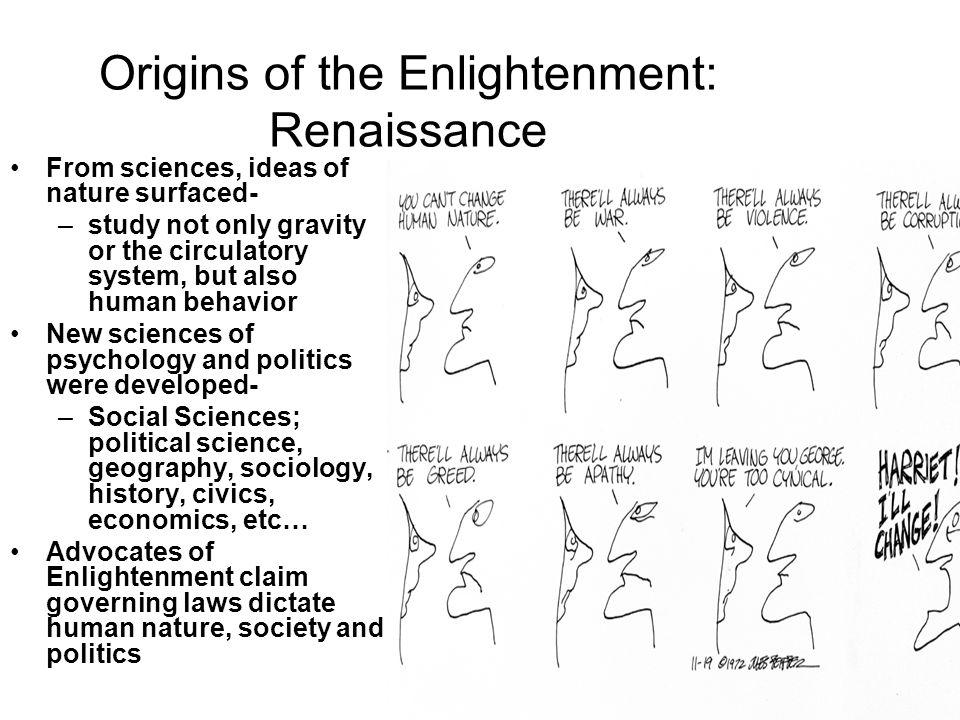 Origins of the Enlightenment: Renaissance