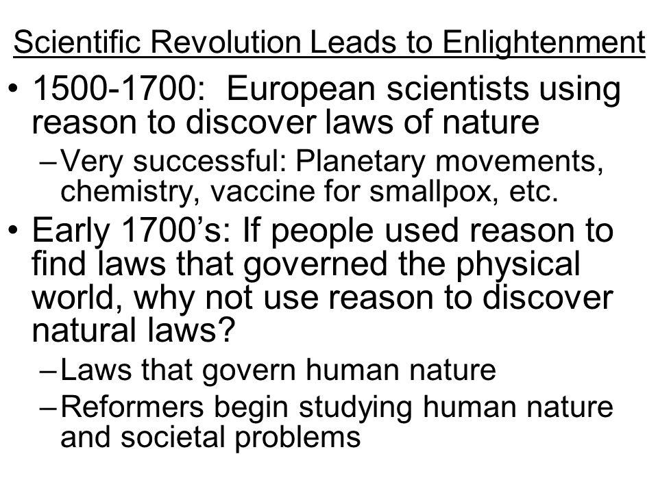 Scientific Revolution Leads to Enlightenment