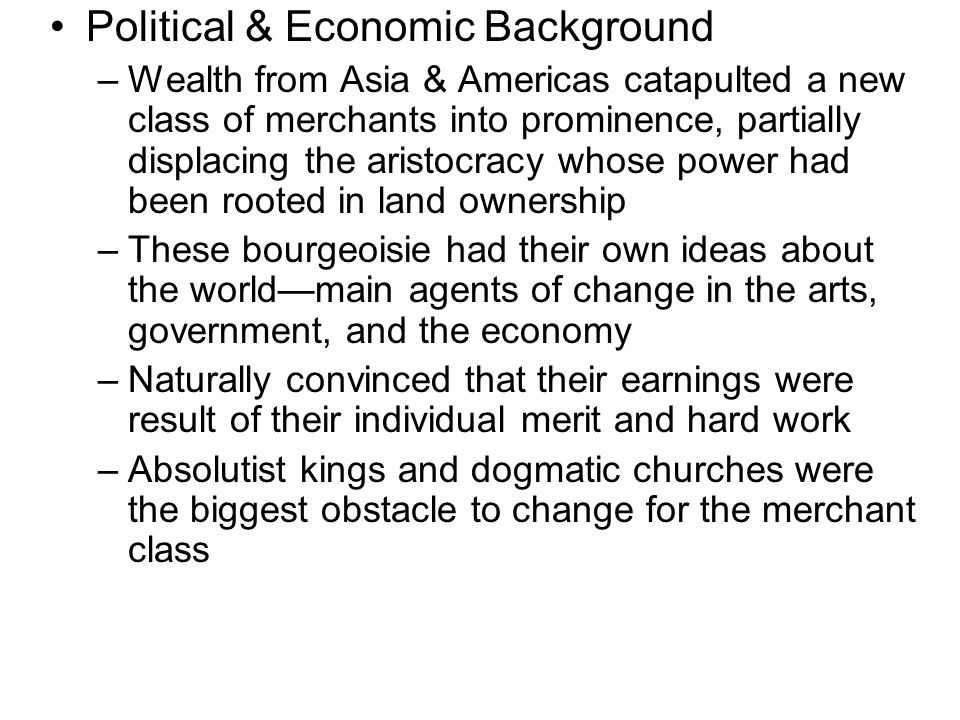 Political & Economic Background