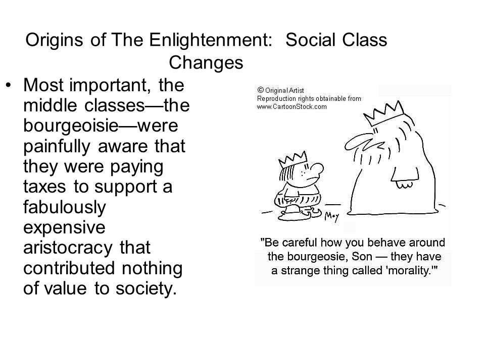 Origins of The Enlightenment: Social Class Changes