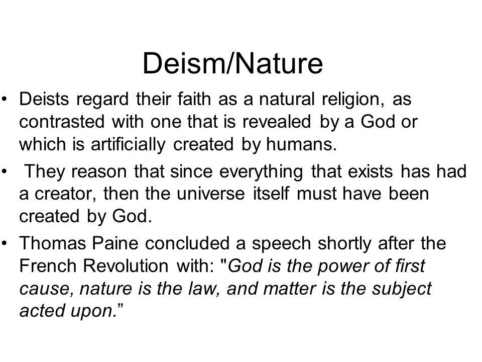 Deism/Nature