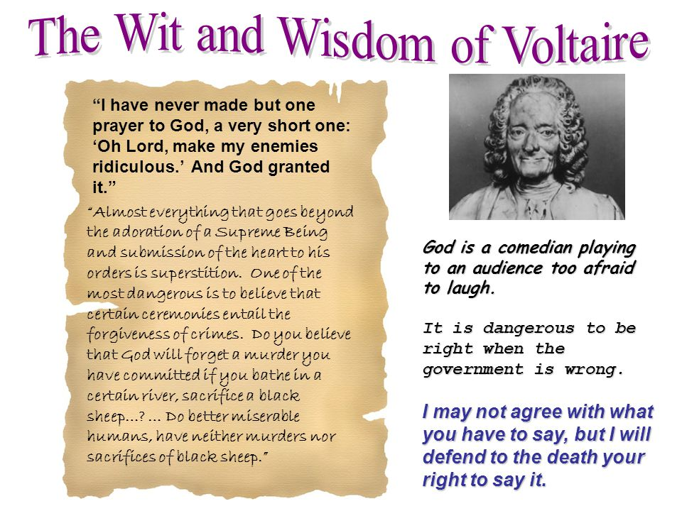 The Wit and Wisdom of Voltaire
