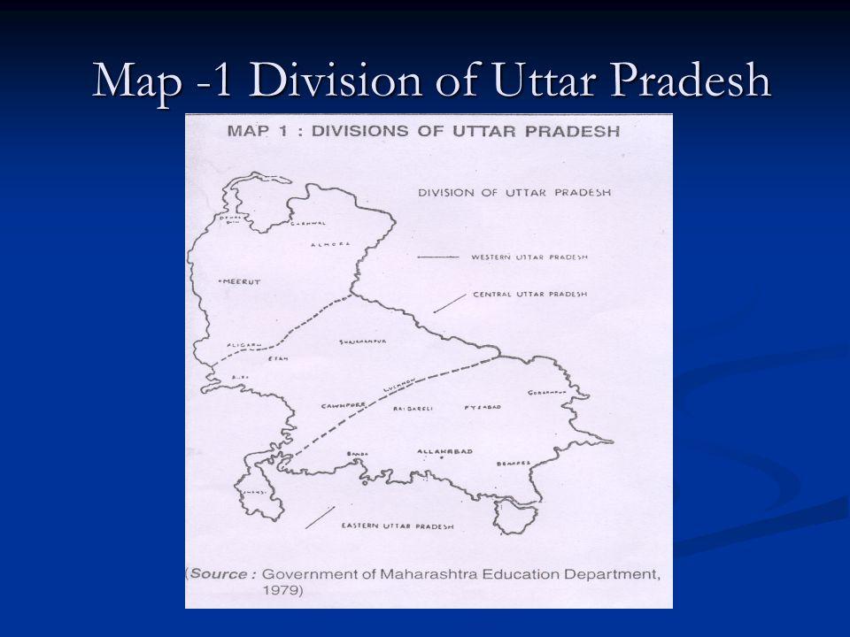 Map -1 Division of Uttar Pradesh