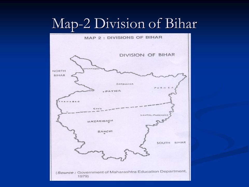 Map-2 Division of Bihar