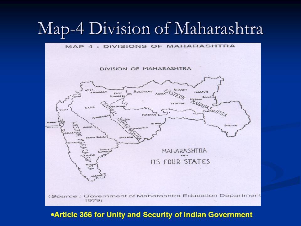 Map-4 Division of Maharashtra