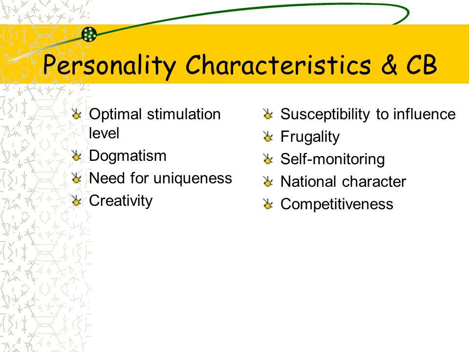 Personality Characteristics & CB
