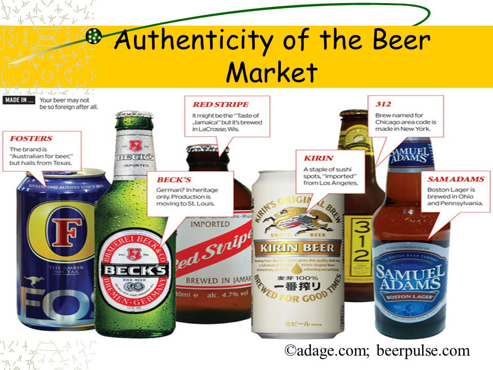Authenticity of the Beer Market