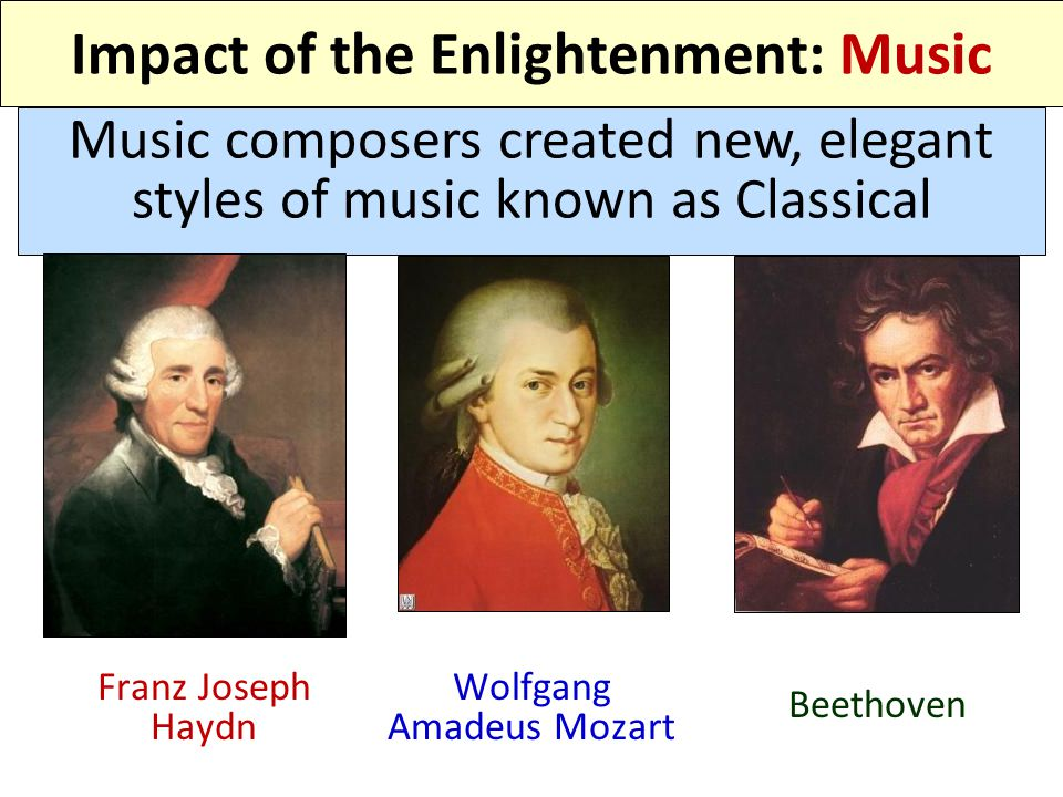 Impact of the Enlightenment: Music