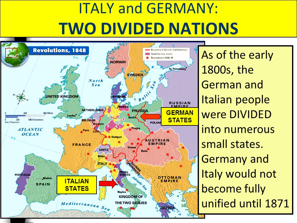 ITALY and GERMANY: TWO DIVIDED NATIONS