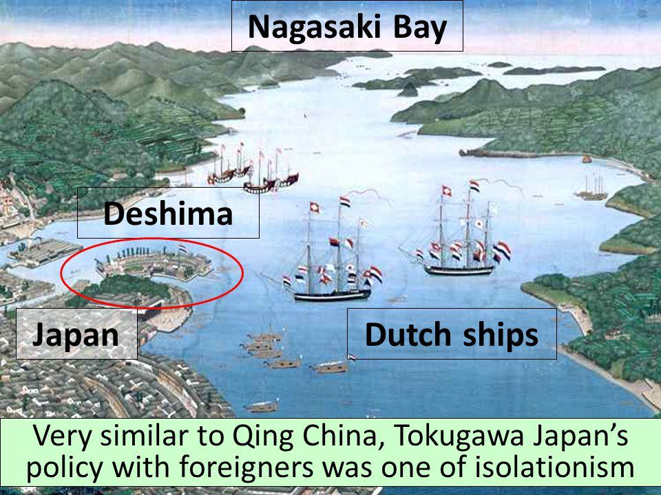 Nagasaki Bay Deshima Japan Dutch ships