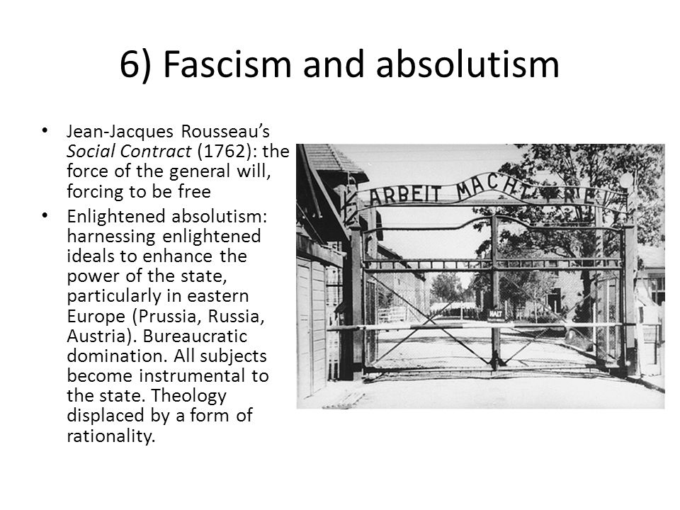 6) Fascism and absolutism