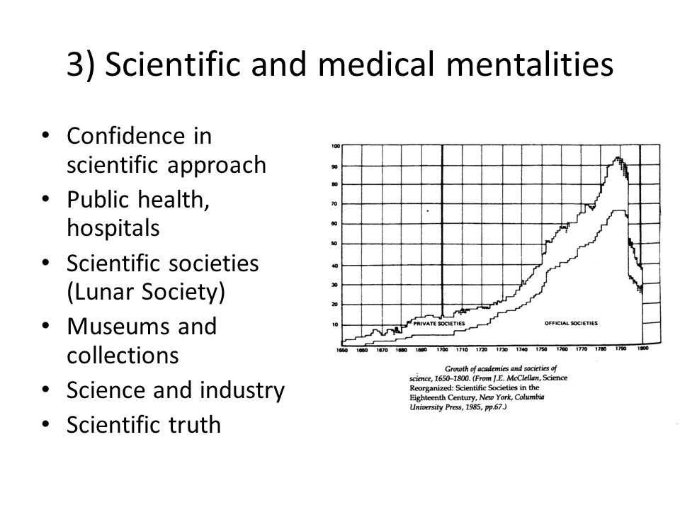 3) Scientific and medical mentalities