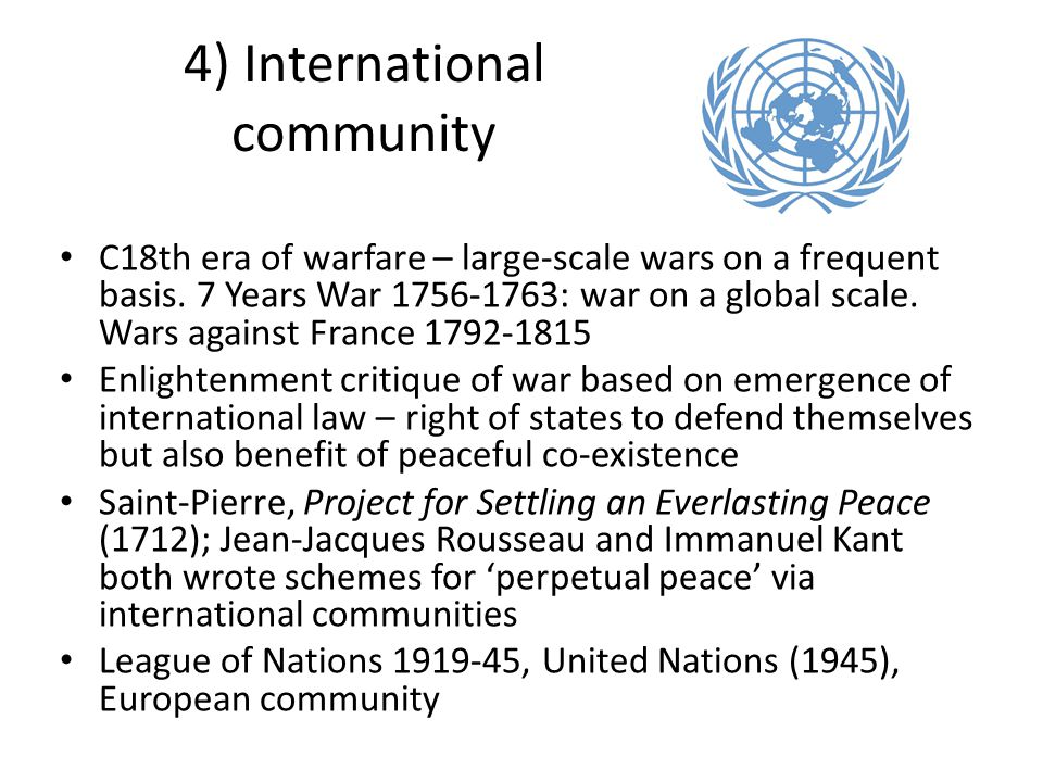 4) International community