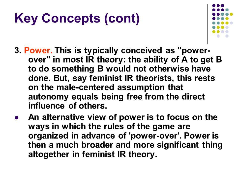 Key Concepts (cont)