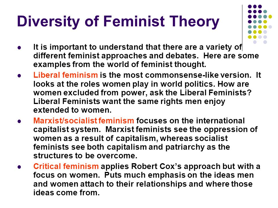 Diversity of Feminist Theory