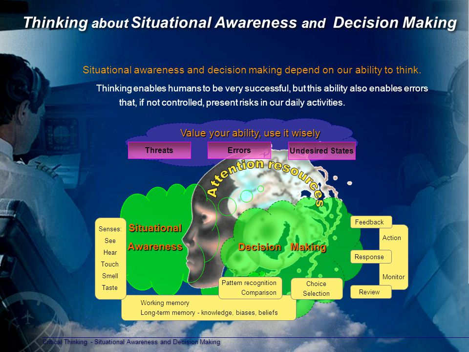 Thinking about Situational Awareness and Decision Making
