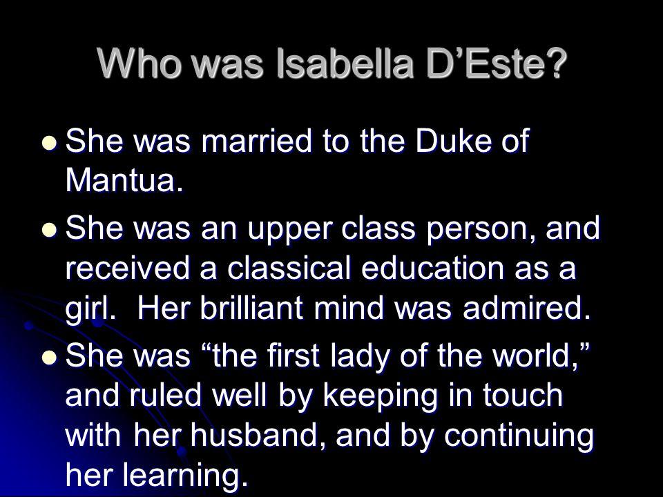 Who was Isabella D'Este