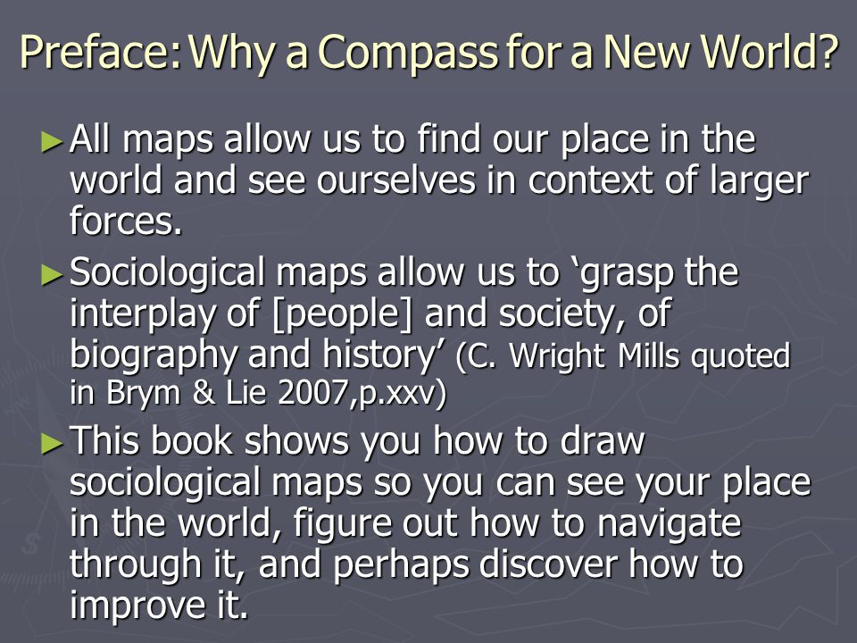 Preface: Why a Compass for a New World