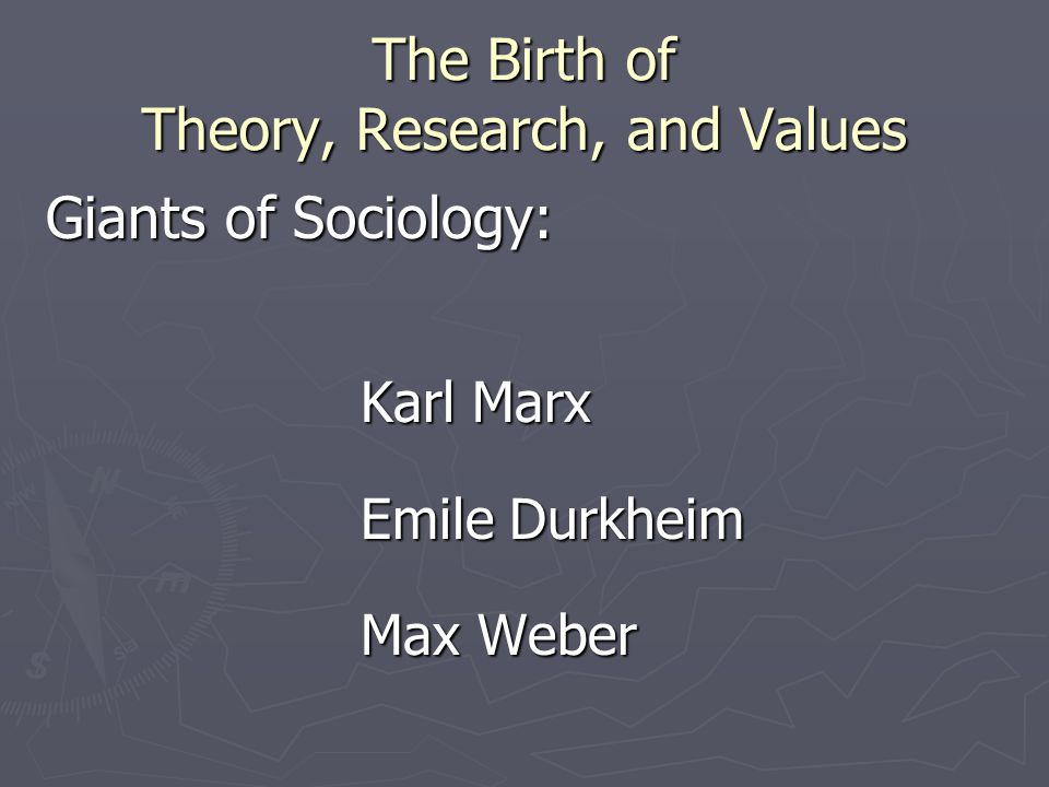The Birth of Theory, Research, and Values