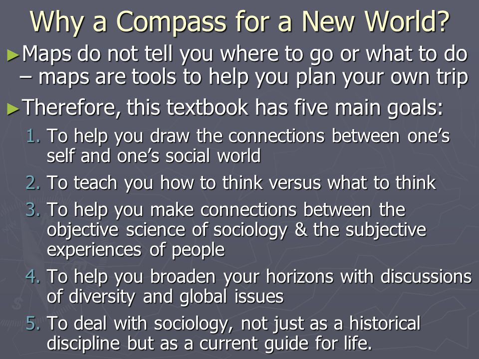 Why a Compass for a New World