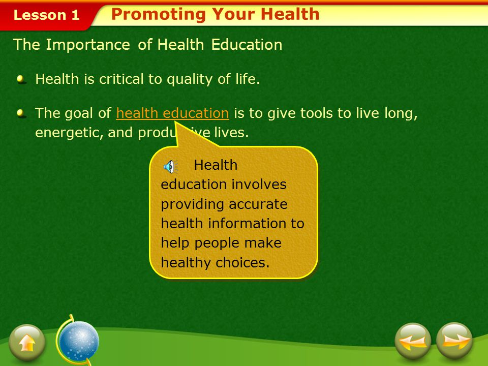 Promoting Your Health The Importance of Health Education