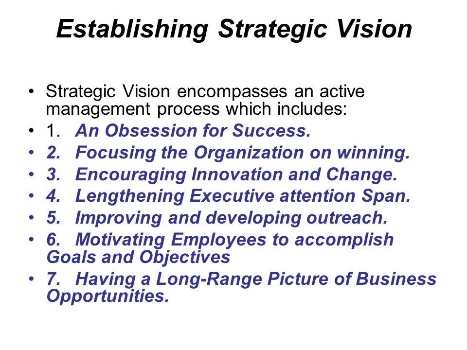 Establishing Strategic Vision