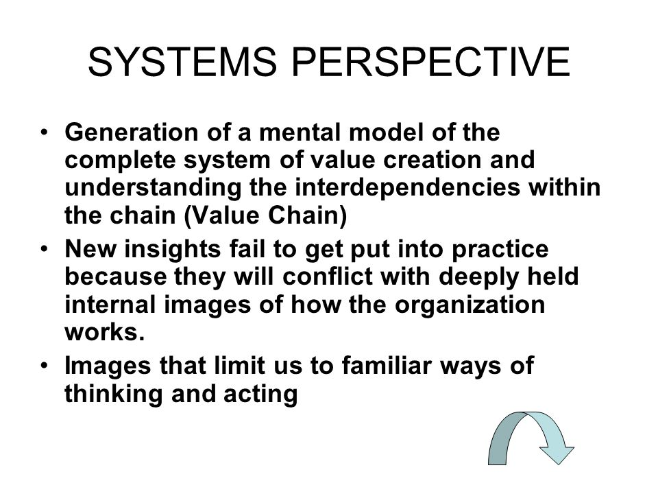 SYSTEMS PERSPECTIVE