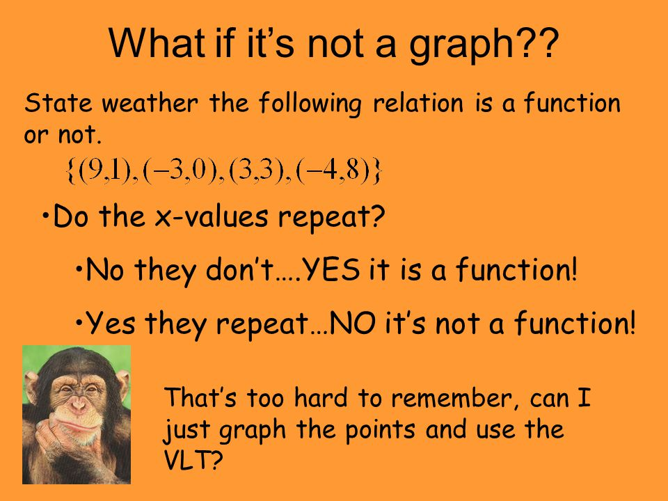 What if it's not a graph Do the x-values repeat
