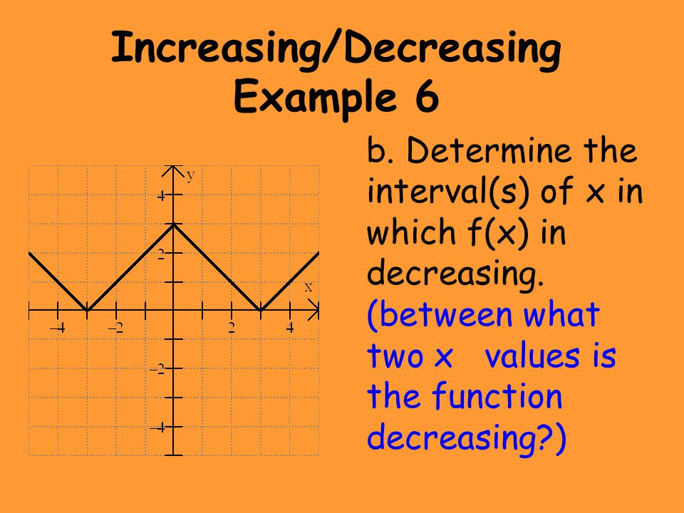 Increasing/Decreasing Example 6