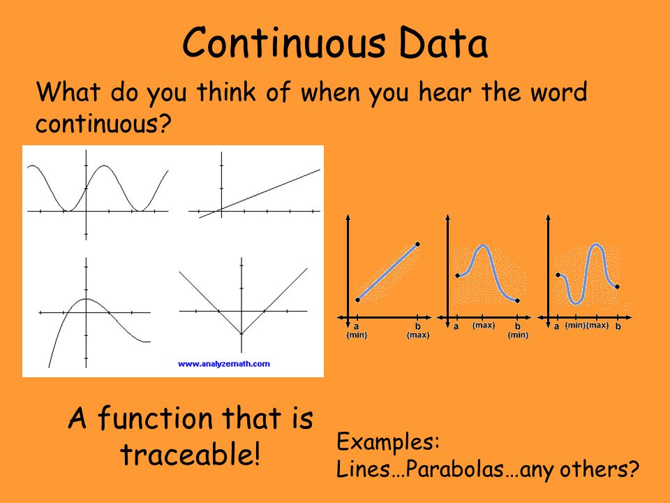 A function that is traceable!