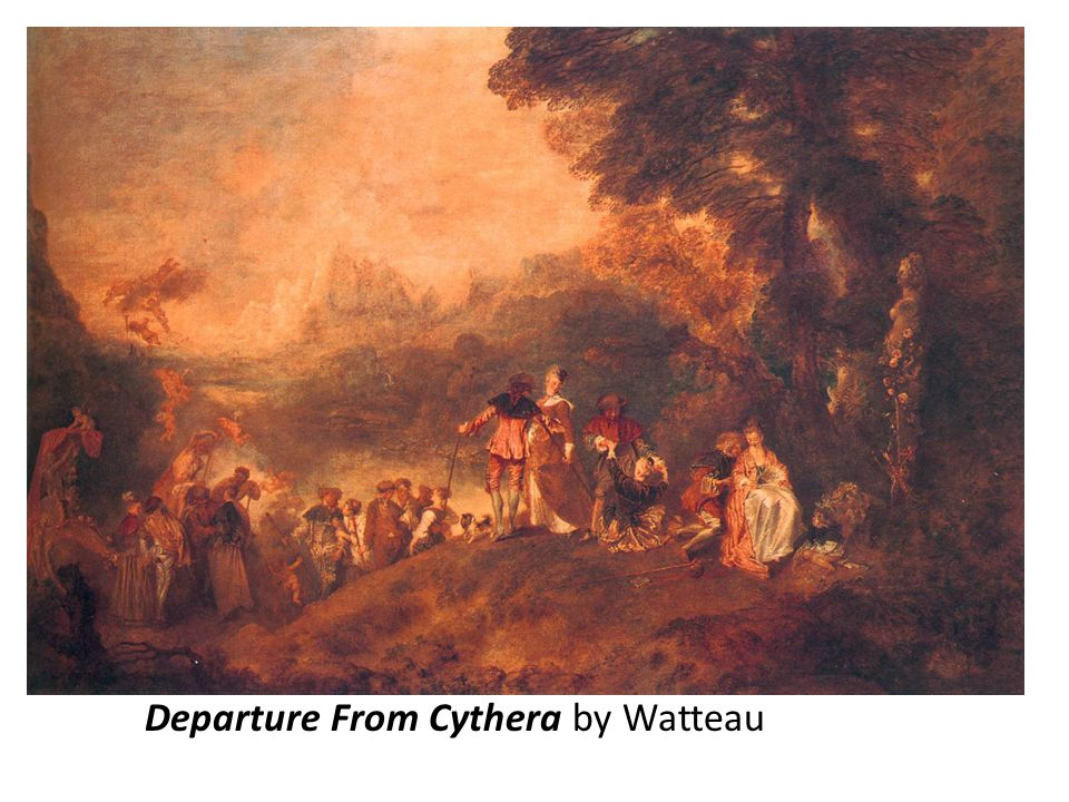 Departure From Cythera by Watteau
