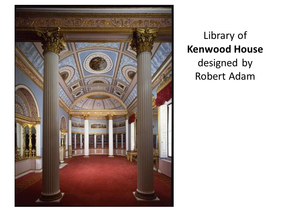 Library of Kenwood House designed by Robert Adam