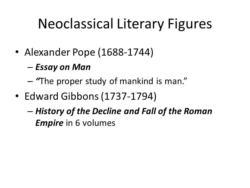 Neoclassical Literary Figures