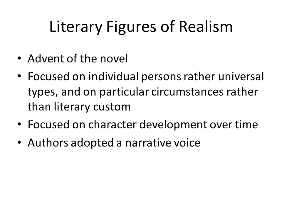 Literary Figures of Realism