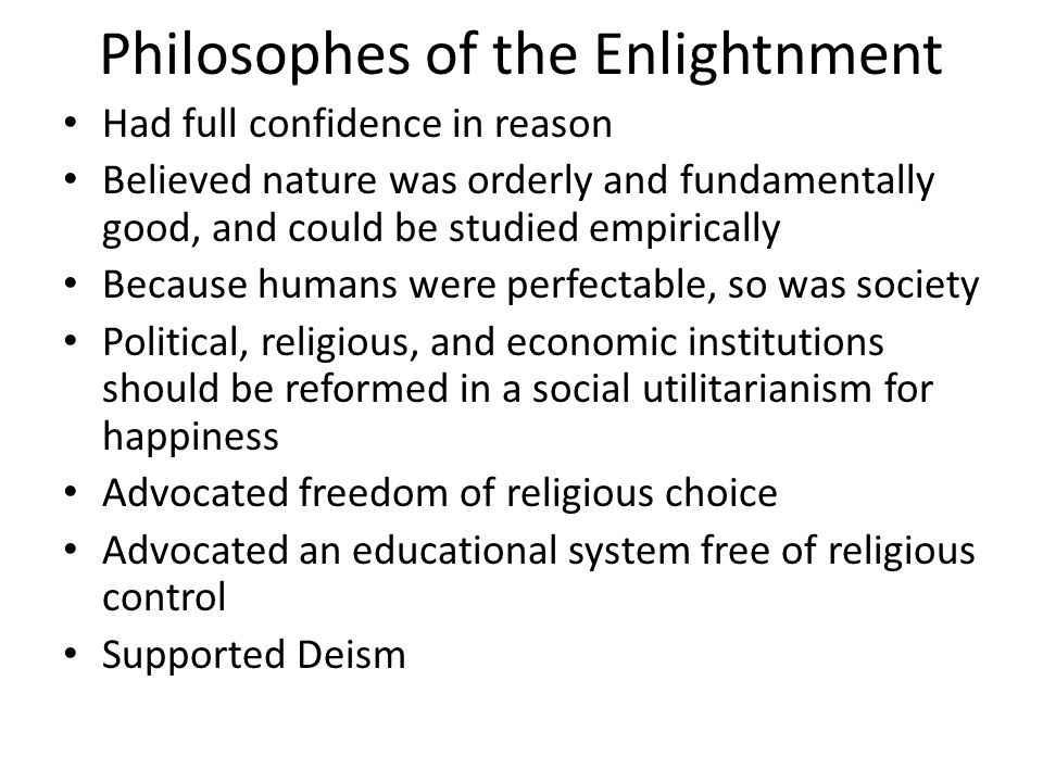 Philosophes of the Enlightnment