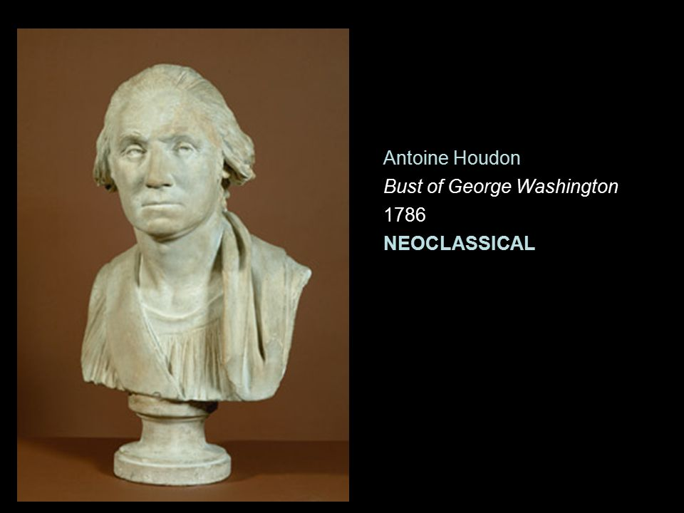 Antoine Houdon Bust of George Washington 1786 NEOCLASSICAL