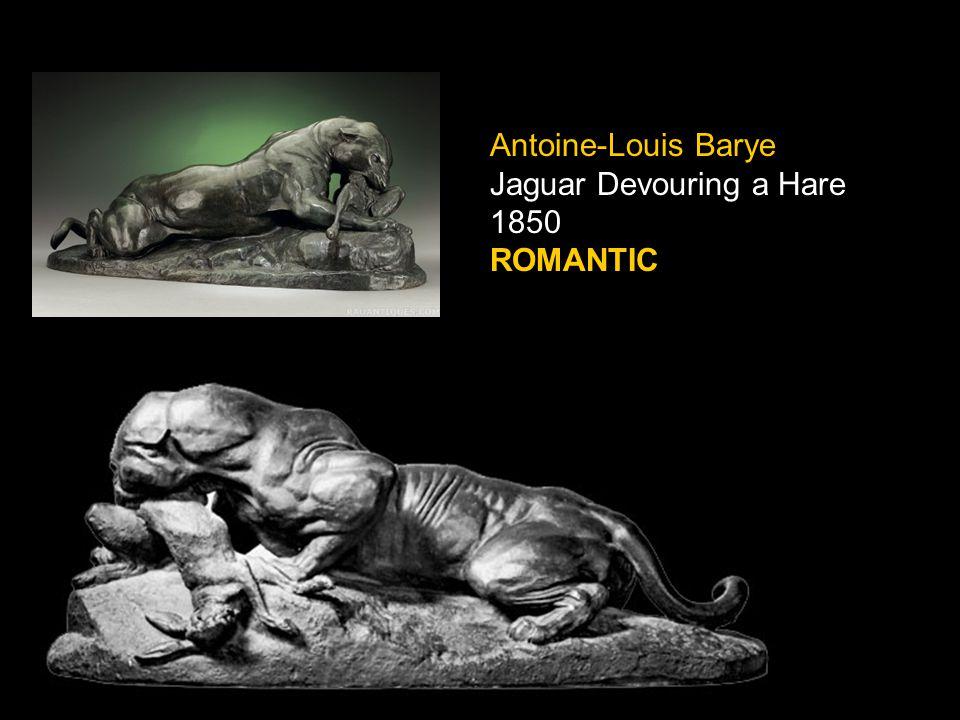 Antoine-Louis Barye Jaguar Devouring a Hare 1850 ROMANTIC