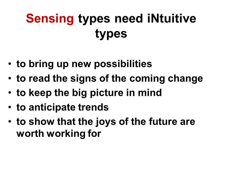 Sensing types need iNtuitive types