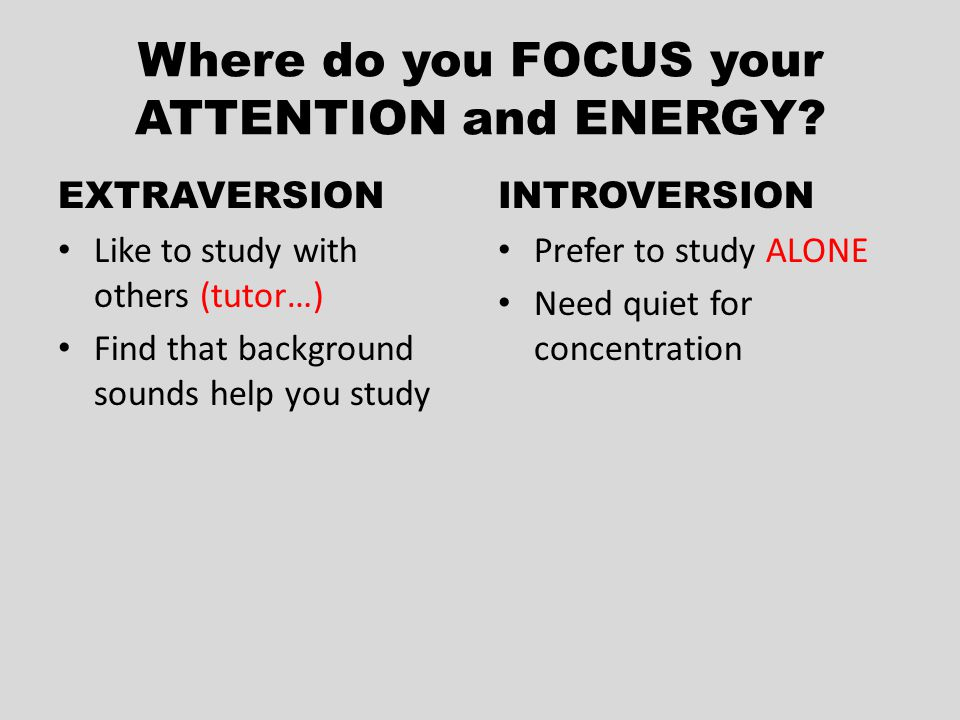 Where do you FOCUS your ATTENTION and ENERGY