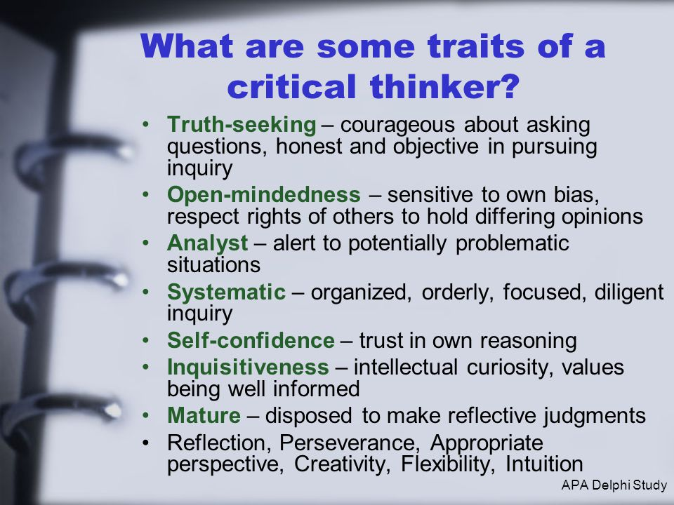 What are some traits of a critical thinker
