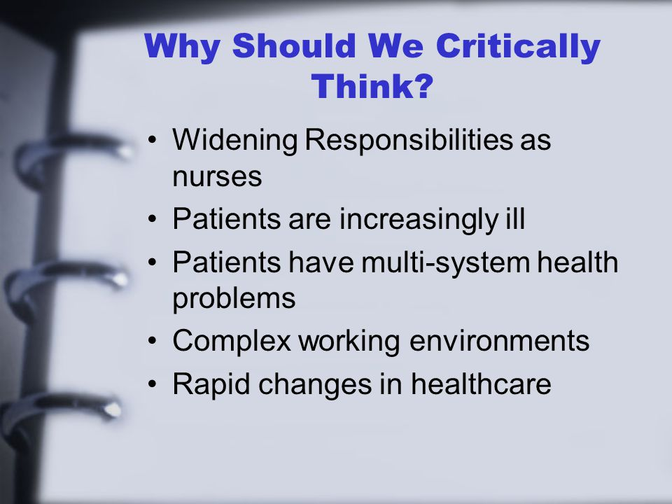 Why Should We Critically Think