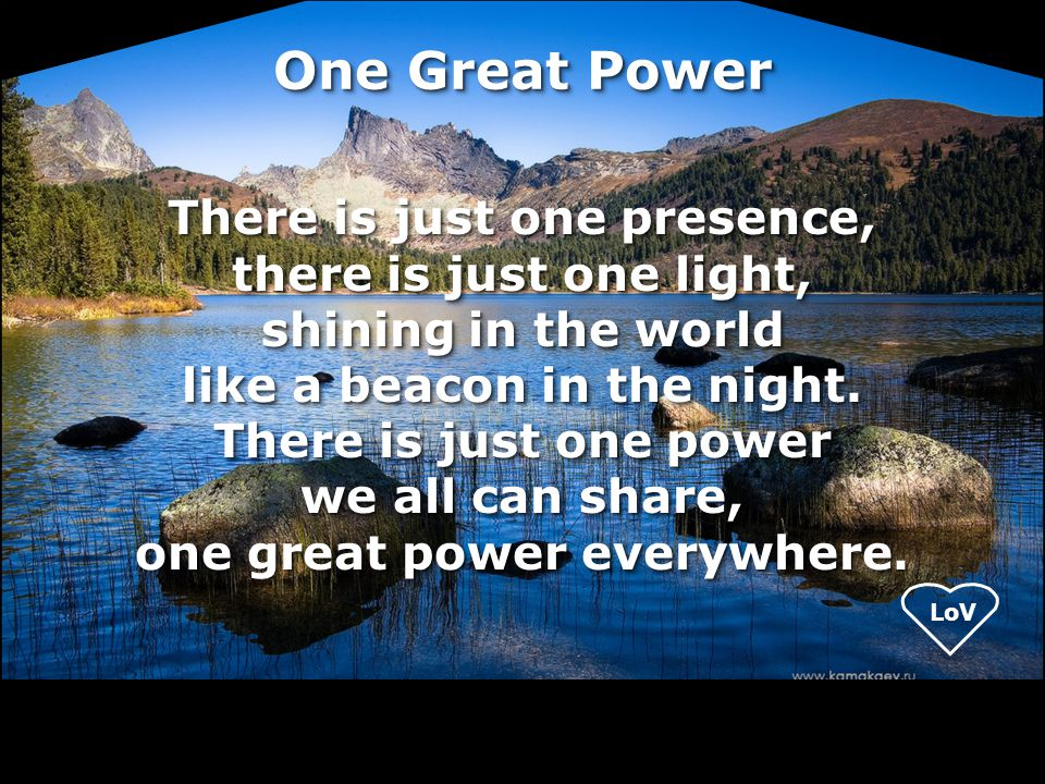 One Great Power