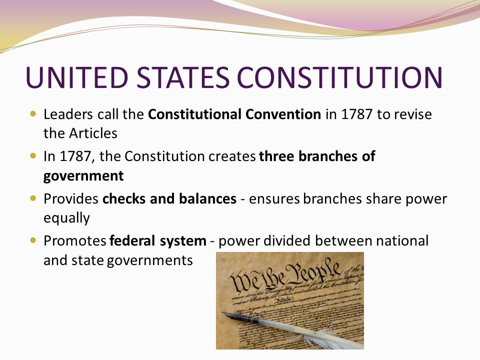 What year were the three branches of the US government created?