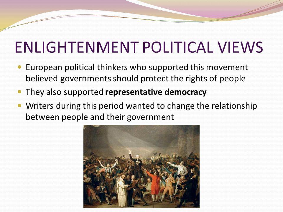 ENLIGHTENMENT POLITICAL VIEWS