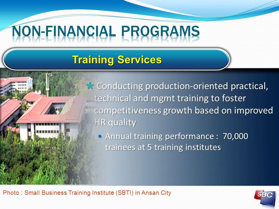 Non-financial programs