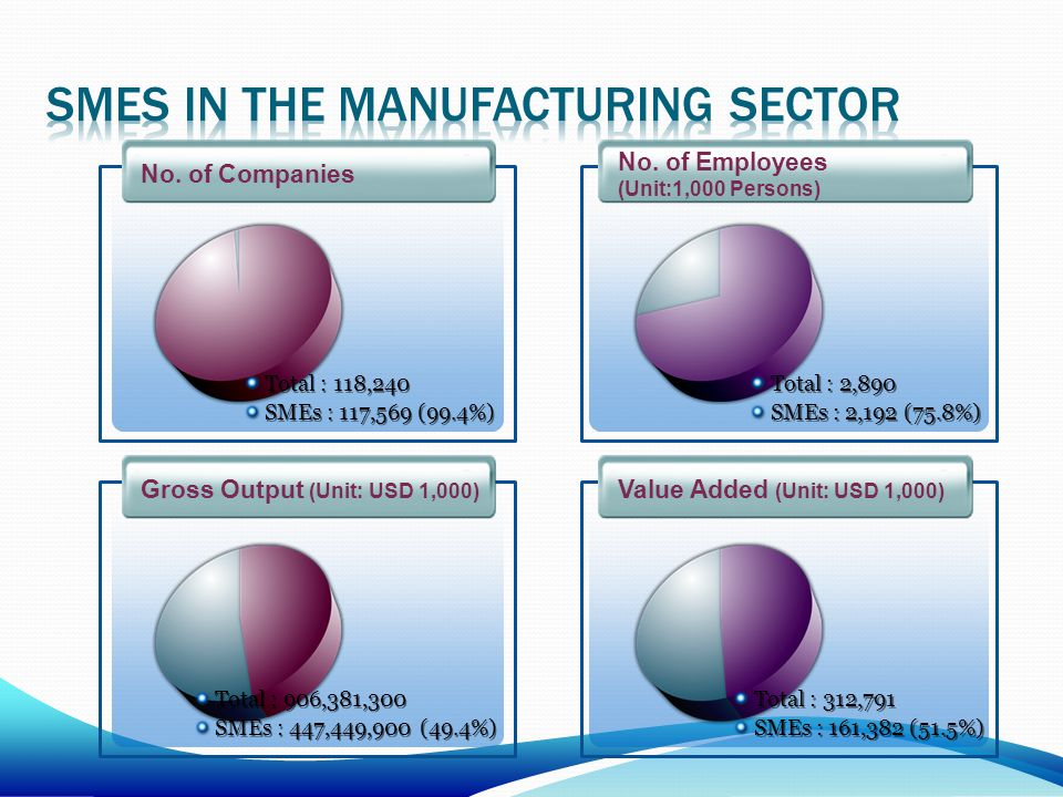 Smes in the manufacturing sector