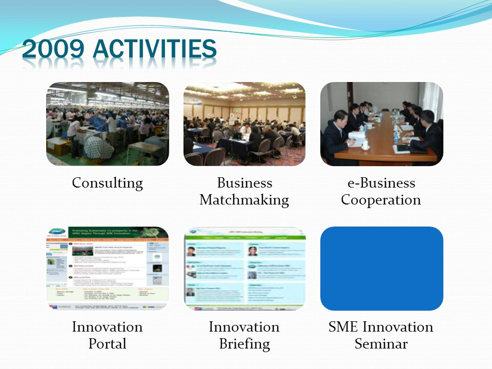 2009 activities Consulting Business Matchmaking e-Business Cooperation