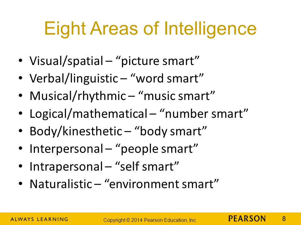 Eight Areas of Intelligence